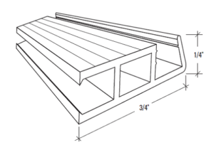 1/4″ Extruded Frame S-100